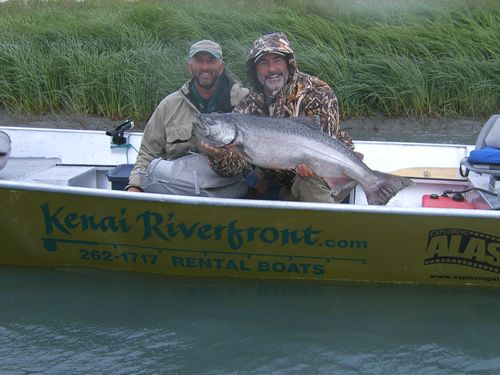 Dave & Jim enjoying a day on the Kenai River