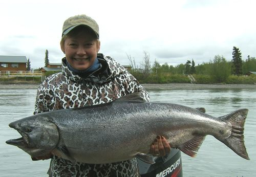 Jackie's King Salmon on the Kenai River