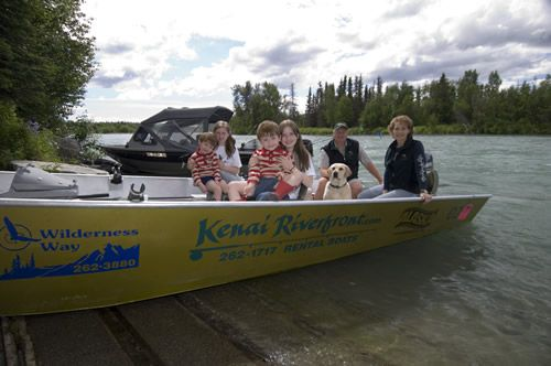 Kenai River Rental Boat Family