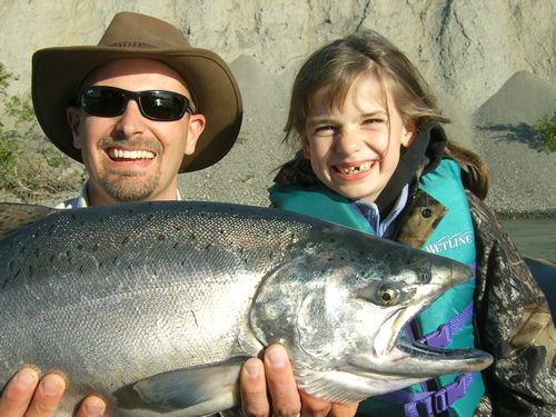 Abigail Short's first Kenai River King Salmon, 6/19/07