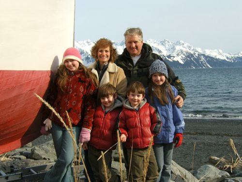 Nelson Family on the Beach in Seward