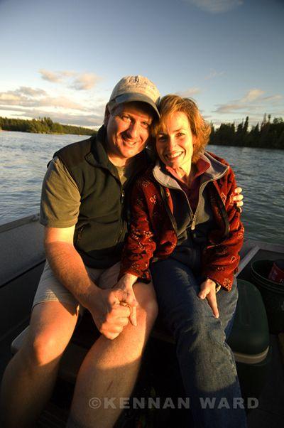 Sunset on the Kenai River, Alaska