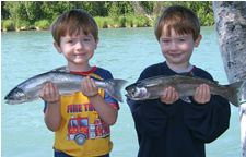 Twin Trout caught by the Twins in June 2006