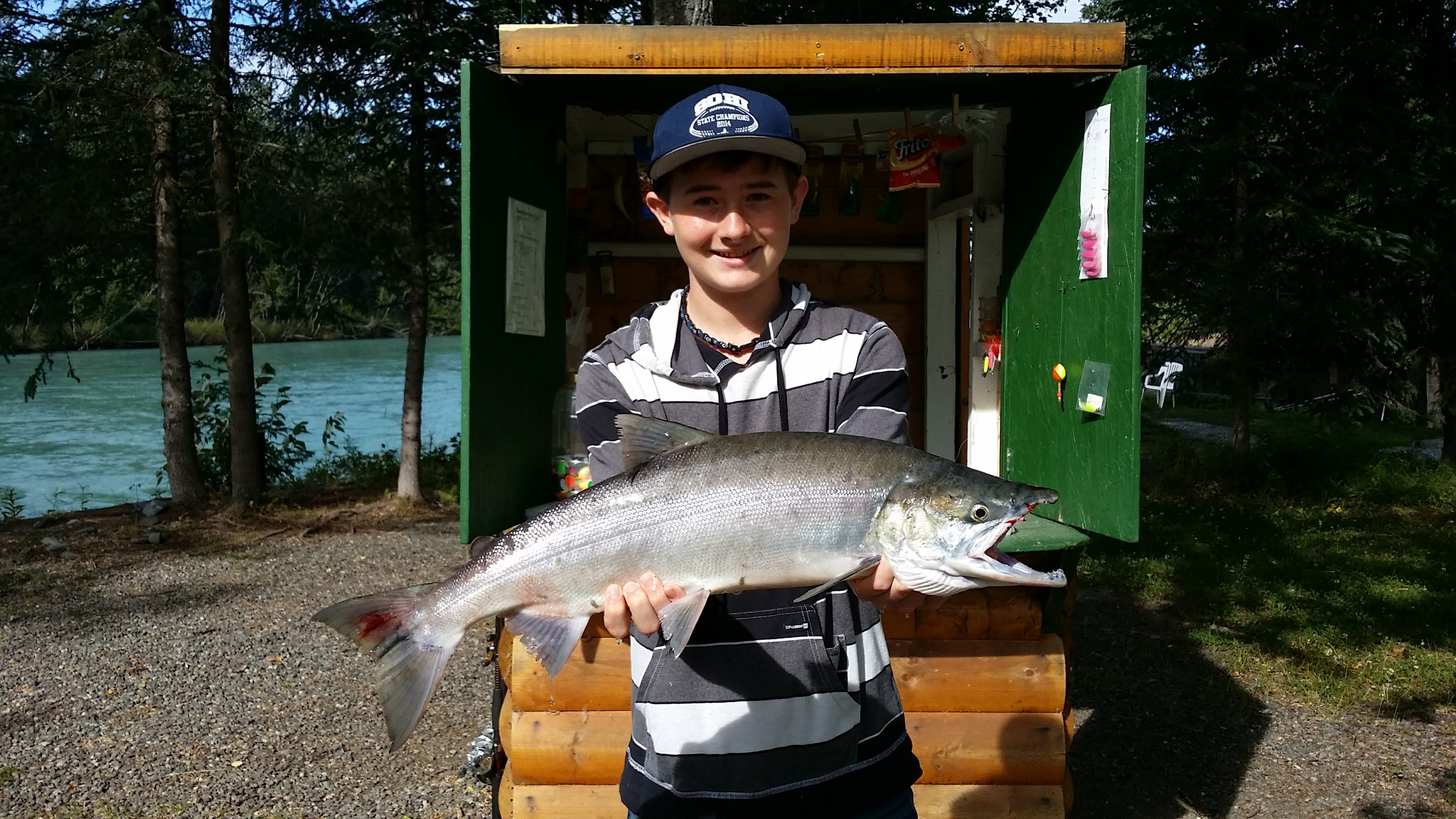Cooper with a nice 2015 Red Salmon