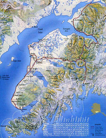 Map of the Kenai Peninsula
