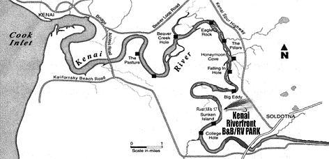 Lower Kenai River Map